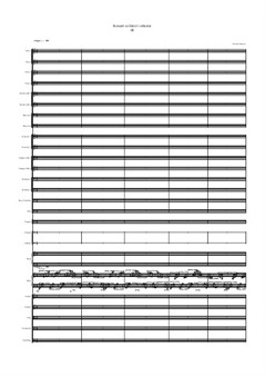 Concerto for Piano and Orchester, III movement
